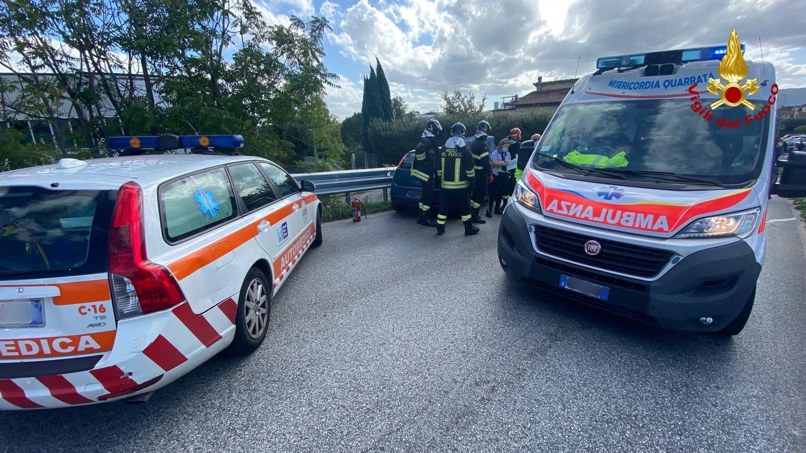 Cronaca, incidente stradale ad Agliana.