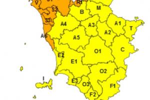 Maltempo, codice arancione dalle 18 di oggi per temporali sul nord ovest della Toscana