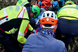 Escursionista caduta sulla montagna pistoiese