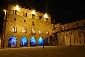 Pistoia: palazzo di Giano si illumina per la Festa dell'Europa